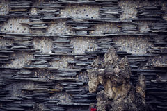 Ένας τοίχος σε Wenjiang, Κίνα Στοκ Εικόνες