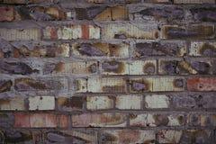 Ένας τοίχος του μμένου τούβλου Στοκ Φωτογραφία