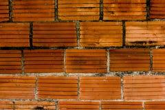 Ένας τούβλινος τοίχος με τους παλαιούς λεκέδες στοκ εικόνα