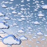Υπόβαθρο σύννεφων κινούμενων σχεδίων Στοκ Εικόνες