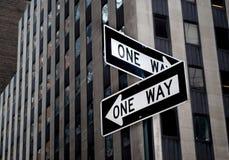 ένας τρόπος οδικών σημαδιών Στοκ Φωτογραφίες