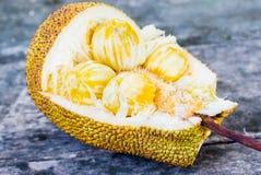 Ένας τύπος Jackfruit παλαιό σε ξύλινο Στοκ Φωτογραφία