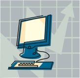 Ένας υπολογιστής Στοκ Εικόνα