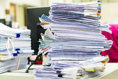 Ένας φάκελλος αρχείων με τα έγγραφα και σημαντικός Στοκ φωτογραφίες με δικαίωμα ελεύθερης χρήσης