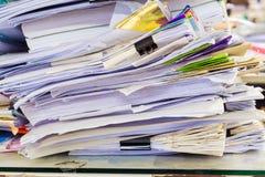 Ένας φάκελλος αρχείων με τα έγγραφα Στοκ Εικόνα