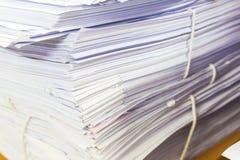 Ένας φάκελλος αρχείων με τα έγγραφα Στοκ εικόνες με δικαίωμα ελεύθερης χρήσης