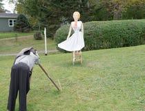 Ένας φωτογράφος στον κόλπο Mahone, NS που παίρνει μια εικόνα της Marilyn! στοκ φωτογραφίες