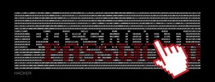 Ένας χάκερ κλέβει έναν κωδικό πρόσβασης Στοκ Εικόνες