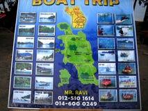 Ένας χάρτης του νησιού pangkor, Μαλαισία Στοκ φωτογραφία με δικαίωμα ελεύθερης χρήσης