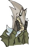 Ένας χαρακτήρας που θυμωμένα κάτι απεικόνιση αποθεμάτων