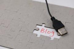 Ένας χαρακτηριστικός γρίφος τορνευτικών πριονιών με το blog στοκ φωτογραφία με δικαίωμα ελεύθερης χρήσης