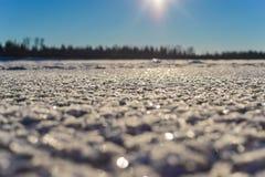 Ένας χιονώδης τομέας στο α Στοκ εικόνα με δικαίωμα ελεύθερης χρήσης