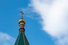 Ένας χριστιανικός διαγώνιος, χρυσός θόλος Στοκ Φωτογραφία