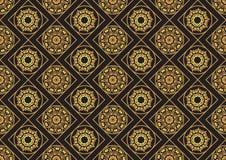 Ένας χρυσός seamlessl διαμορφώνει για την κάρτα ή την πρόσκληση με το Ισλάμ, Στοκ Εικόνες