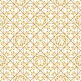 Ένας χρυσός seamlessl διαμορφώνει για την κάρτα ή την πρόσκληση με το Ισλάμ, Στοκ εικόνα με δικαίωμα ελεύθερης χρήσης