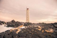 Ένας ψηλός φάρος στην Ισλανδία Στοκ φωτογραφία με δικαίωμα ελεύθερης χρήσης