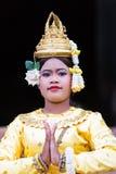 Ένας όμορφος νέος χορευτής Aspara, Καμπότζη Στοκ Φωτογραφία
