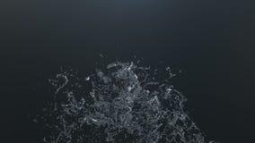 Ένας όμορφος παφλασμός του νερού, σε αργή κίνηση απόθεμα βίντεο