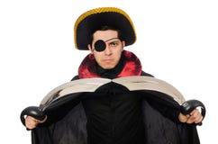 Ένας eyed πειρατής με το ξίφος Στοκ Εικόνες