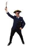 Ένας eyed πειρατής με το χαρτοφύλακα και ξίφος που απομονώνεται Στοκ φωτογραφίες με δικαίωμα ελεύθερης χρήσης