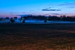 Ένας misty τομέας Στοκ Εικόνες