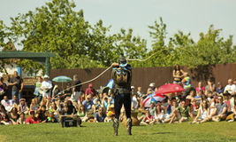 Ένας Whip κύριος στο φεστιβάλ αναγέννησης της Αριζόνα Στοκ εικόνα με δικαίωμα ελεύθερης χρήσης