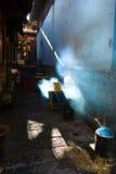 Ένας yunnan φραγμός πρόχειρων φαγητών Στοκ Εικόνες