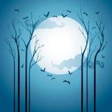 Έναστρη νύχτα αποκριών διανυσματική απεικόνιση