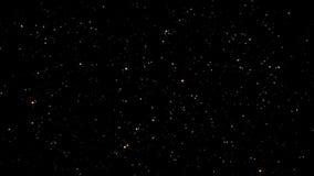 Έναστροι ουρανοί νύχτας με τον άνευ ραφής βρόχο αστεριών αστραπής και  απόθεμα βίντεο