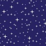 Έναστρο άνευ ραφής σχέδιο νυχτερινού ουρανού Στοκ Φωτογραφία