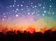 Έναστρο υπόβαθρο κτυπημάτων βουρτσών ουρανού Αμερικανός διακοσμεί διανυσματική έκδοση συμβόλων σχεδίου την πατριωτική καθορισμένη Στοκ φωτογραφίες με δικαίωμα ελεύθερης χρήσης