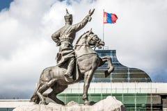 Ένα άγαλμα στην πρωτεύουσα Ulaanbaatar της Μογγολίας στοκ φωτογραφία