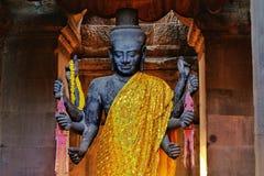 Ένα άγαλμα του ινδού Θεού, Visnu που βρίσκεται σε Angkor Wat Στοκ Φωτογραφίες