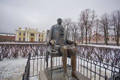 Ένα άγαλμα του Μέγας Πέτρου στη Αγία Πετρούπολη Στοκ Εικόνες