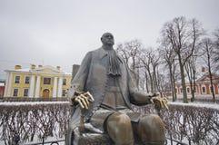 Ένα άγαλμα του Μέγας Πέτρου στη Αγία Πετρούπολη Στοκ Φωτογραφία