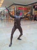 Ένα άγαλμα ενός ατόμου Στοκ Φωτογραφίες
