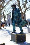 Ένα άγαλμα διαβίωσης στο Γουέστμινστερ Στοκ Εικόνες