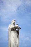 Ένα άγαλμα της Virgin Mary στο μπλε ουρανό Στοκ φωτογραφία με δικαίωμα ελεύθερης χρήσης