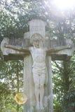 Σοβαρό άγαλμα με Στοκ εικόνες με δικαίωμα ελεύθερης χρήσης