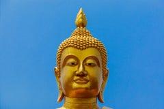 Ένα άγαλμα του κεφαλιού του Βούδα Στοκ Φωτογραφία