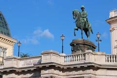 Ένα άγαλμα του Franz Joseph I της Αυστρίας - της Βιέννης - της Αυστρίας Στοκ εικόνες με δικαίωμα ελεύθερης χρήσης