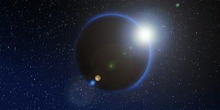 Διαστημικό υπόβαθρο αστεριών Στοκ φωτογραφία με δικαίωμα ελεύθερης χρήσης