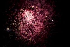 Ένα λάμποντας ζωηρόχρωμο πυροτέχνημα Στοκ Εικόνες