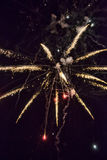 Ένα λάμποντας ζωηρόχρωμο πυροτέχνημα Στοκ εικόνα με δικαίωμα ελεύθερης χρήσης