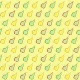 Ένα άνευ ραφής σχέδιο με τα τυποποιημένα αχλάδια Στοκ εικόνα με δικαίωμα ελεύθερης χρήσης