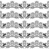 Ένα άνευ ραφής σχέδιο με το pegasus εκτροφής Στοκ εικόνα με δικαίωμα ελεύθερης χρήσης