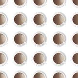 Ένα άνευ ραφής σχέδιο φλιτζανιών του καφέ απεικόνιση αποθεμάτων
