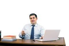 Ένα άτομο είναι επιχειρηματίας στο γραφείο Στοκ φωτογραφίες με δικαίωμα ελεύθερης χρήσης