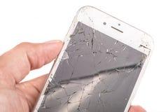 Ένα άτομο κρατά στο χέρι του ένα iphone 6S της Apple Inc στοκ φωτογραφίες