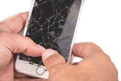 Ένα άτομο κρατά στο χέρι του ένα iphone 6S της Apple Inc στοκ φωτογραφία με δικαίωμα ελεύθερης χρήσης